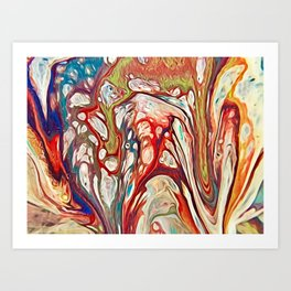 Floating nature Art Print