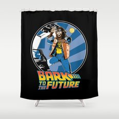 Bark to the Future Shower Curtain