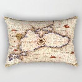 Black sea medieval map Rectangular Pillow