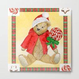 christmas_red_little_bear Metal Print