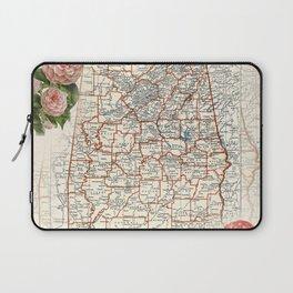Alabama map with Camelias Laptop Sleeve