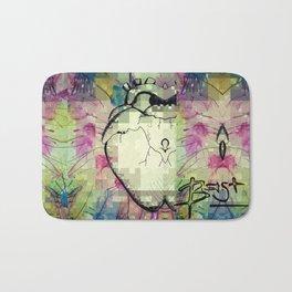 PixELATED Heart Bath Mat