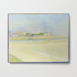 Georges Seurat - The Channel of Gravelines, Grand Fort-Philippe Metal Print