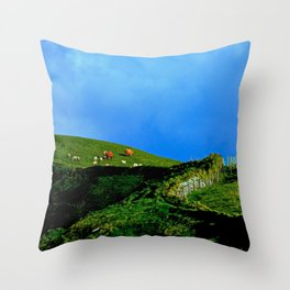 The Rolling Hills of County Clare Throw Pillow