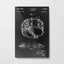 Snare Drum Patent Metal Print