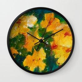 Blooming yelllows Wall Clock