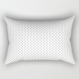Mouse Forest Friends All Over Repeat Pattern in White Rectangular Pillow