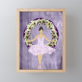 Ballerina Orchid Wreath Framed Mini Art Print