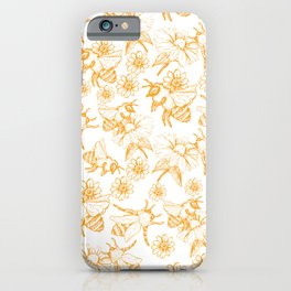 Aesthetic and simple bees pattern iPhone Case