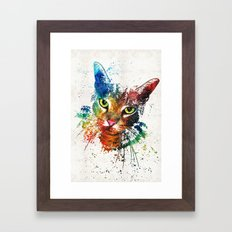 Colorful Cat Art by Sharon Cummings Framed Art Print