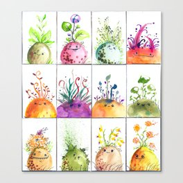Sprout Heads Canvas Print