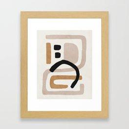 Abstract shapes art, Mid century modern art Framed Art Print
