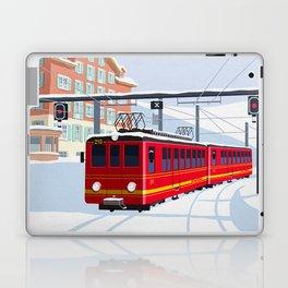 Grindelwald Ski Poster Laptop & iPad Skin