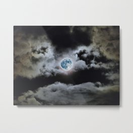 Blue Moon I Wonder Metal Print