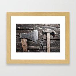 Old rusty tools Framed Art Print