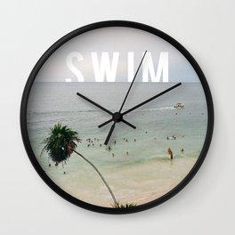 Life's A Beach. So Swim. Wall Clock