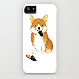 Corgi with Shoes iPhone Case