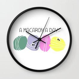 Cute macarons Wall Clock