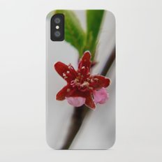 Red peach blossom Slim Case iPhone X