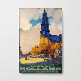 Besucht Holland Vintage Travel Poster Metal Print