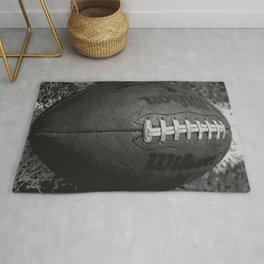 Big American Football - black &white Rug