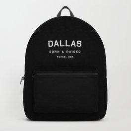 Dallas - TX, USA (Black Arc) Backpack