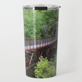 Bridge to a Waterfall Travel Mug