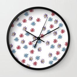 When I was little, I drew flowers Wall Clock