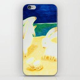 Bongo Bunnies Dancing in the Moonlight on the Beach iPhone Skin