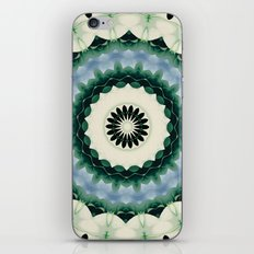 White Flower and Cerulean Blue Mandala iPhone & iPod Skin