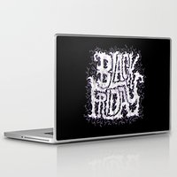 friday Laptop & iPad Skins featuring Black Friday by Chris Piascik
