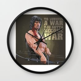 A Tribute to JOHN - Artistic portrait Wall Clock