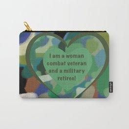 Woman Combat Veteran and Military Retiree Carry-All Pouch