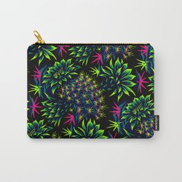 Cactus Floral - Bright Green/Pink Carry-All Pouch