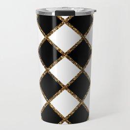 Geometric ornament gold seamless pattern Travel Mug