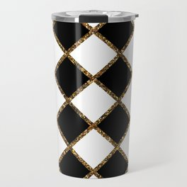 Geometric ornament gold seamless pattern Travel Mug