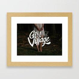 Girl Village Framed Art Print