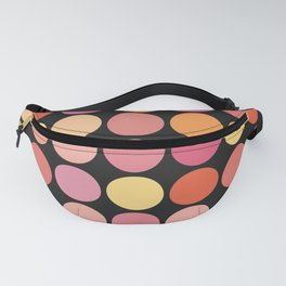 More Polka Dots on Black Fanny Pack