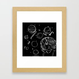 Coming Down Framed Art Print
