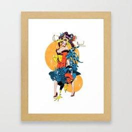 cocktail oiran girl Framed Art Print