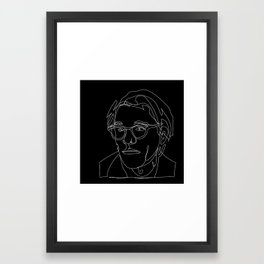 Andy Warhola line art Framed Art Print