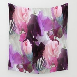Sweet Peas & Carnations. Wall Tapestry