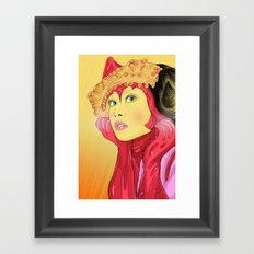 Superheroes SF Framed Art Print