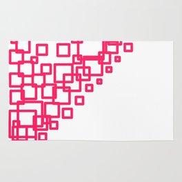design blocks pink on white Rug