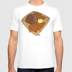 Waffle Time is Anytime. Mens Fitted Tee MEDIUM White