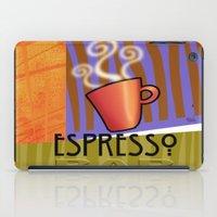 bar iPad Cases featuring EXPRESSO BAR by Cheryl Daniels