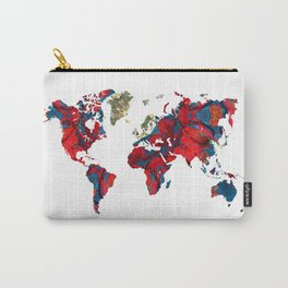world map art 8 Carry-All Pouch