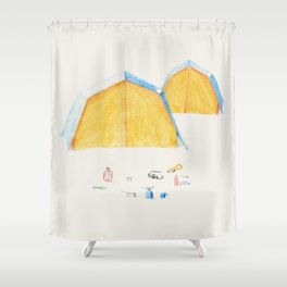 Le Camping Shower Curtain
