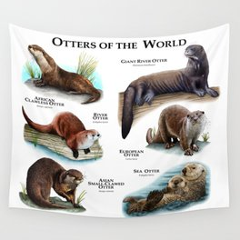 Otters of the World Wall Tapestry
