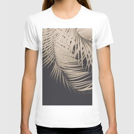 Palm Leaves Sepia Vibes #1 #tropical #decor #art #society6 T-shirt